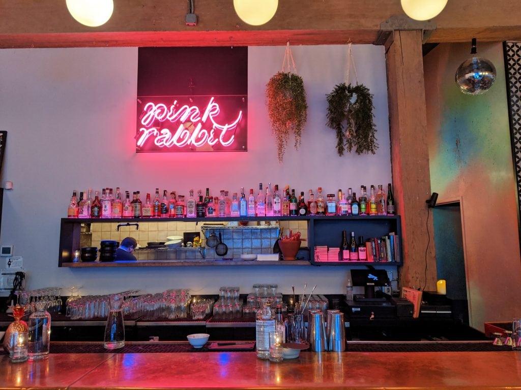 inside pink rabbit bars in portland oregon