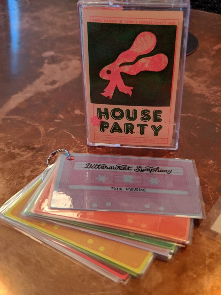 bar menu for pink rabbit bars in portland or
