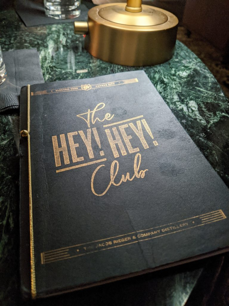Hey Hey Club Menu