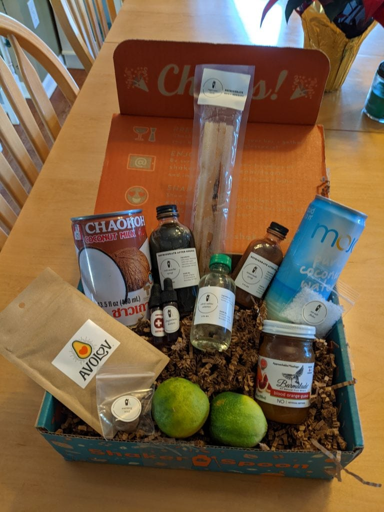 cocktail making at home with a subscription box