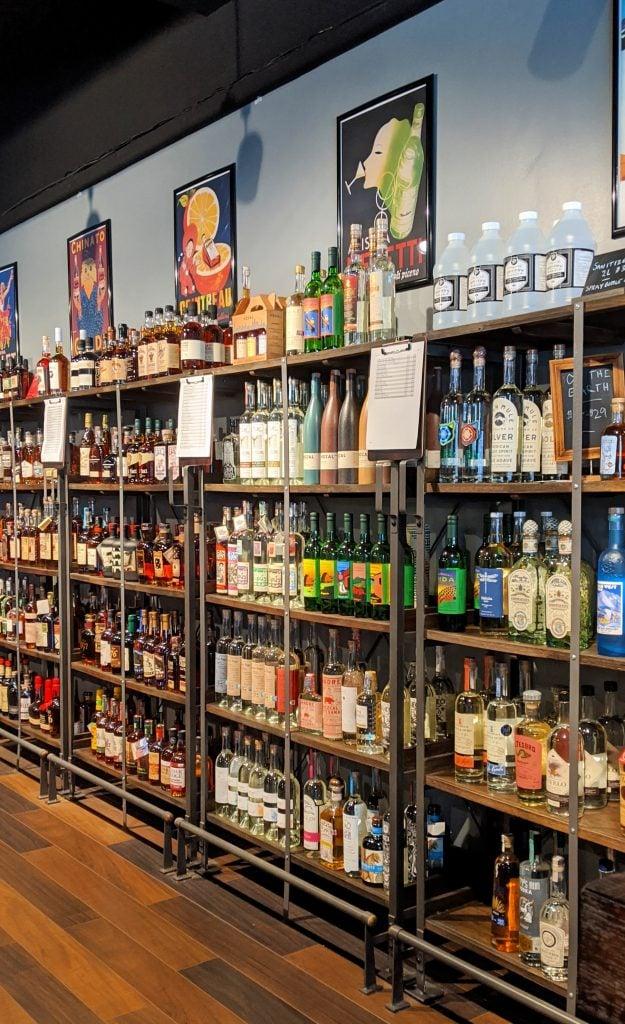 mezcal bottle display