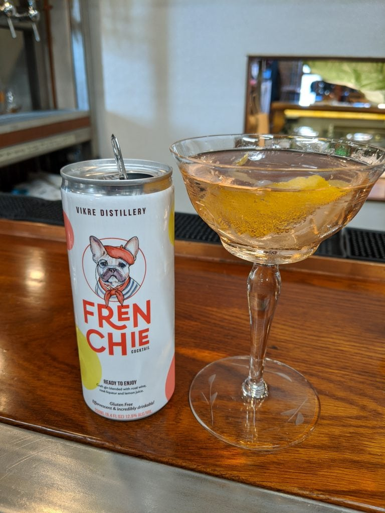Vikre Distillery frenchie canned cocktail
