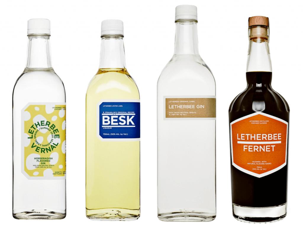 letherbee distillery bottles