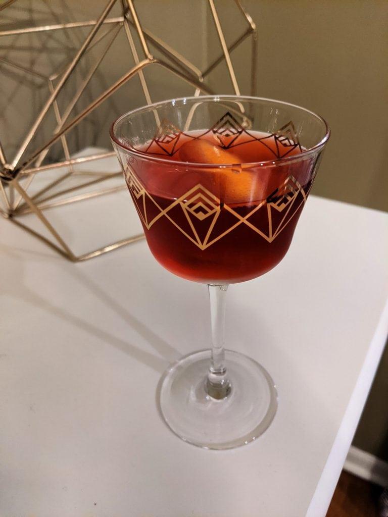 bourbon drinks - boulevardier
