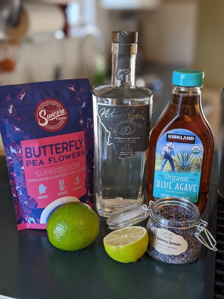 citrus cocktails lavender gimlet ingredients