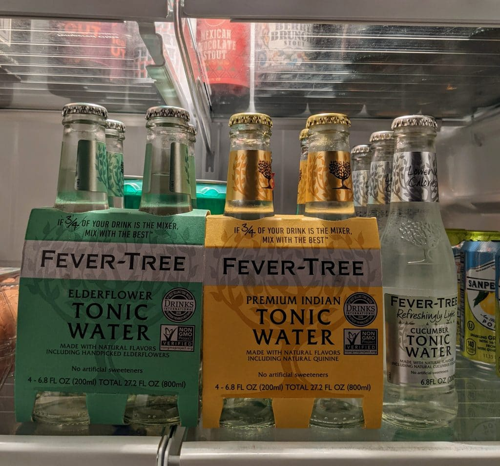 fever tree tonic water cocktail mixers