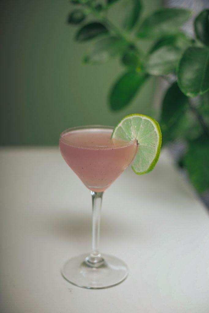 lavender vodka gimlet cocktail