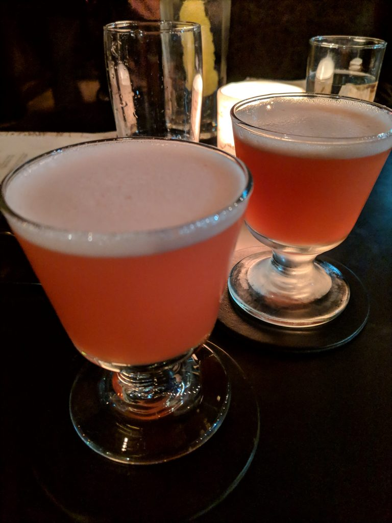 two campground gimlets with zirbenz