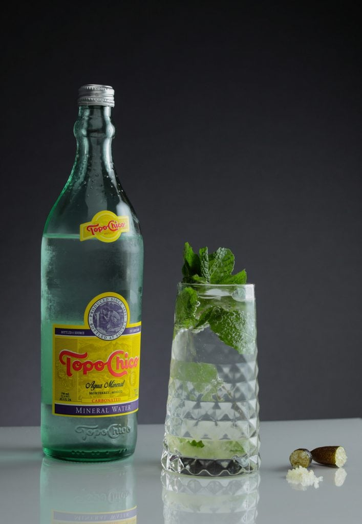 best cocktail mixers topo chico mineral water