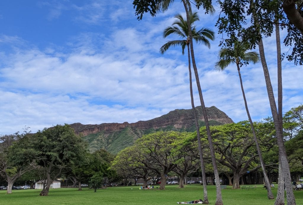 diamond head on oahu where five hawaiian distilleries are located