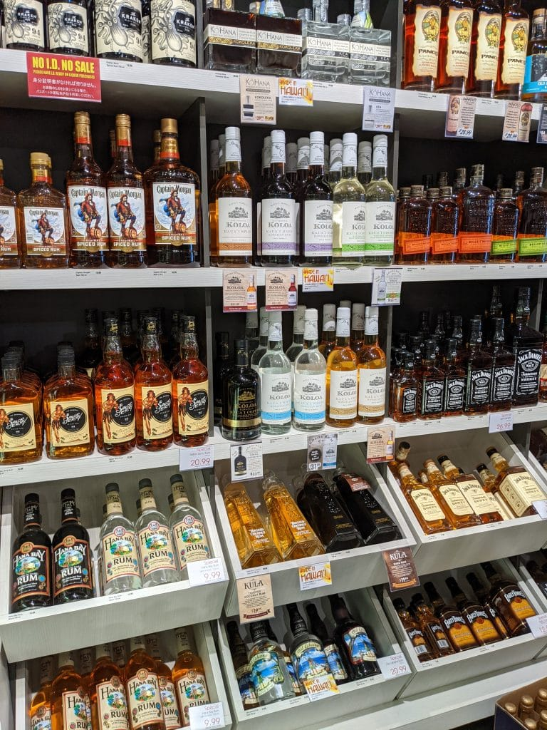 bottled products of hawaiian distilleries