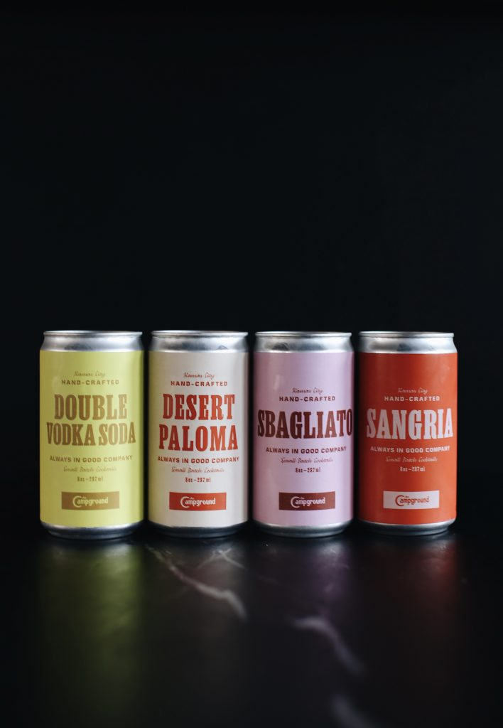 cocktails to go in colorful cans
