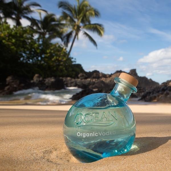 ocean organic rum bottle