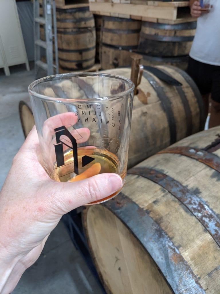 charleston distilleries beyond distilling double rocks glass with whiskey