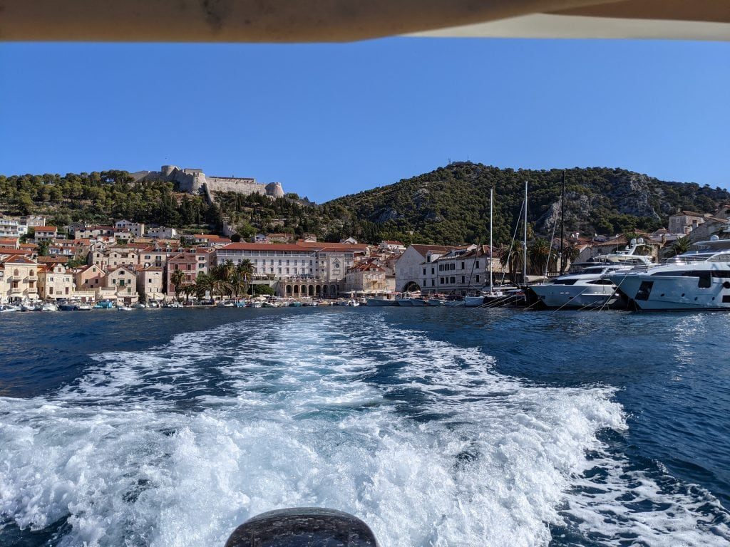 bars in hvar view of hvar town from the water