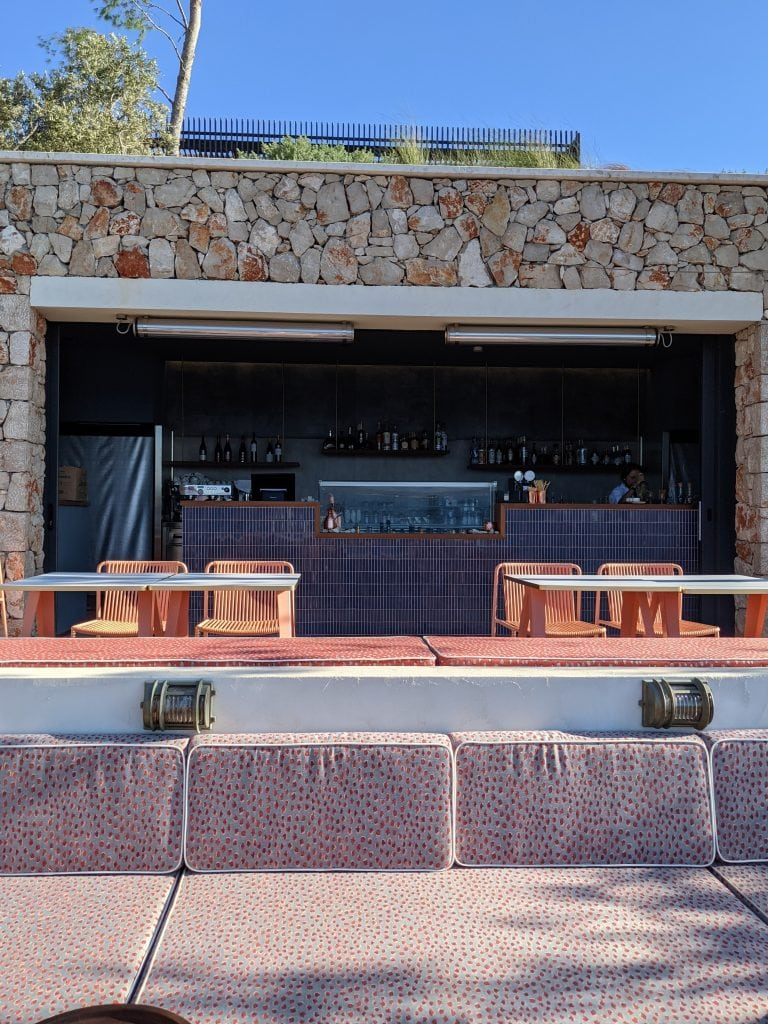 a bay beach bar at maslina bars in hvar