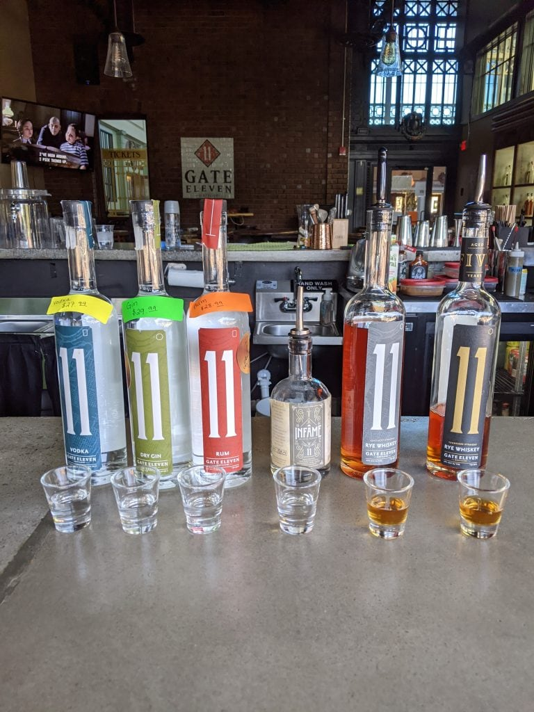 chattanooga whiskey and spirits at gate 11 distillery
